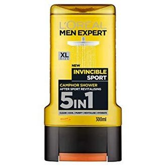 L'oreal Men Expert 5in1 Invincible Sport душ гел / шампоан за коса, лице и тяло 300 мл