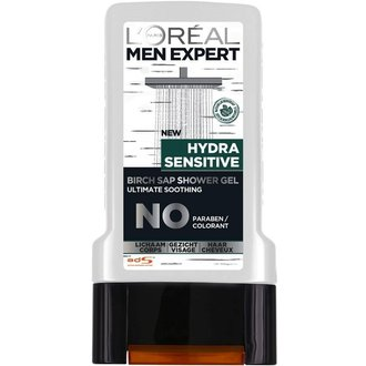 L'oreal Men Expert 3in1 Hydra Sensitive душ гел / шампоан за коса, лице и тяло 300 мл