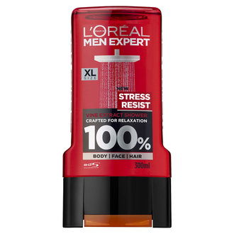 L'oreal Men Expert 3in1 Stress Resist душ гел / шампоан за коса, лице и тяло 300 мл