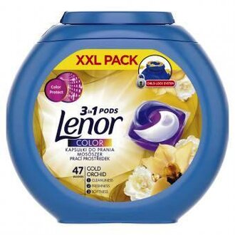 Lenor Gold Orchid 3in1 капсули за цветно пране 47 бр