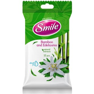 Smile Bamboo and Edelweiss мокри кърпи 15 бр
